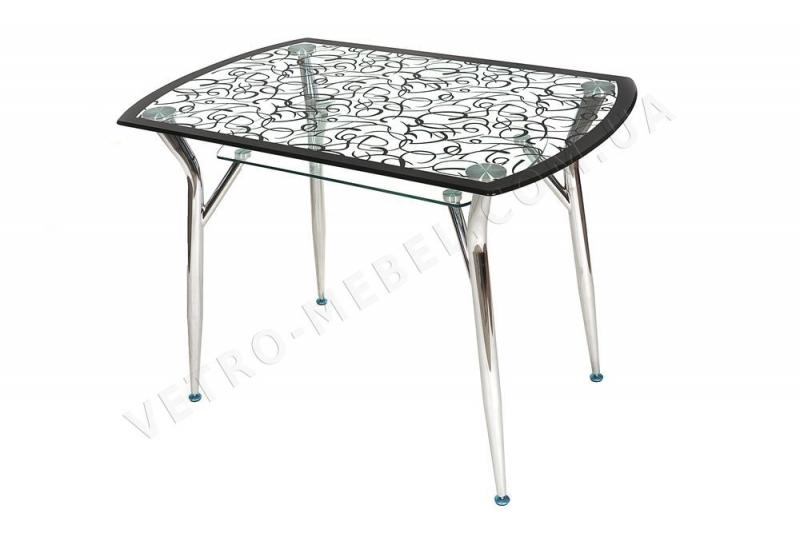 Стол обеденный стеклянный М15 черный